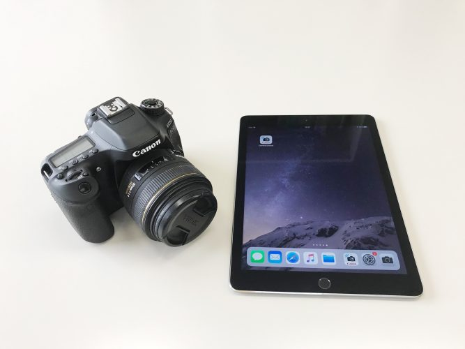 デジタル一眼レフカメラで撮影した写真をタブレット(iPad)にリモート表示してみた!